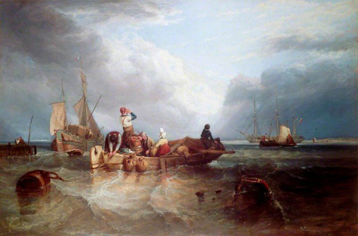 Stanfield, Clarkson - A Market Boat on the Scheldt