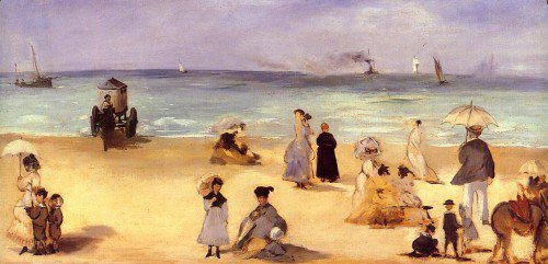 Édouard Manet - On the Beach at Boulogne