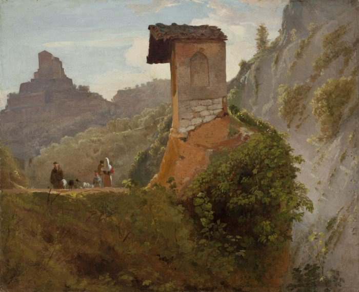Morse, Samuel Finley Breese - Sketch for the Chapel of the Virgin at Subiaco