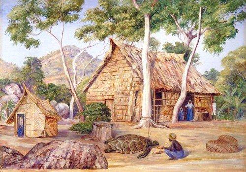 Marianne North - Emile's Palm House, Praslin, Seychelles