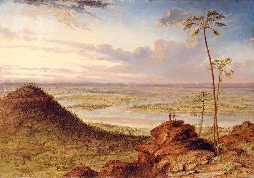 Thomas Baines - A Bend in the Victoria River, North Australia