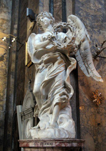 Angel with a Crown of Thorns - Gian Lorenzo Bernini | Uart