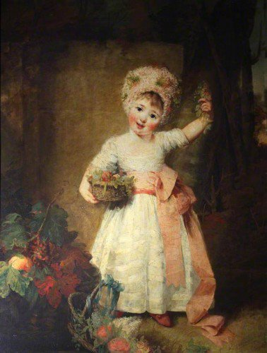 Rev. Matthew William Peters - Lady Elizabeth Isabella Manners as a Child