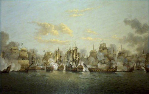 Thomas Luny - The Battle of the Saints, 12 April 1782