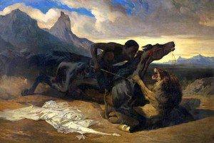 Alfred de Dreux - The Combat