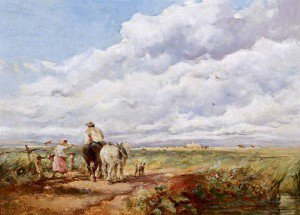 David Cox - Landscape with Haymakers