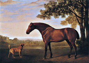 George Stubbs - A Red Hunter and a Dog Called 'Trim', belonging to G. W. Ricketts Esq., of New Canaan, Jamaica