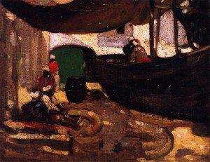 John Duncan Fergusson - Arab Fishermen and Boats