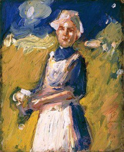 John Duncan Fergusson - Girl in a Field