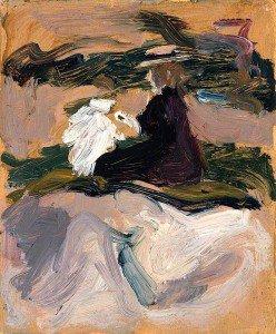 John Duncan Fergusson - Landscape with Figures