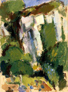 John Duncan Fergusson - Trees and a Cliff
