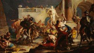 Giovanni Battista Tiepolo - The Rape of the Sabine Women
