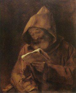 Rembrandt van Rijn - A Monk Reading