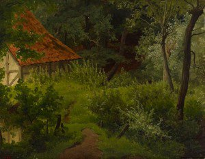 Werner Holmberg - Farmhouse in the Woods, Study