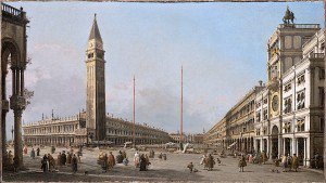 Canaletto - Piazza San Marco Looking South and West