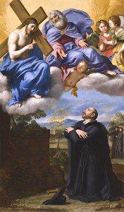 Domenichino - Saint Ignatius of Loyola's Vision of Christ and God the Father at La Storta