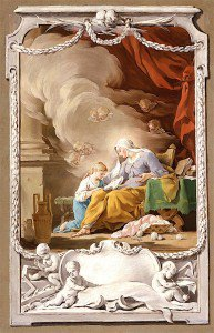 Noel Hallé - St. Anne Revealing to the Virgin the Prophecy of Isaiah