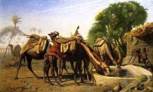 Jean-Léon Gérôme - Camels at a Watering Trough