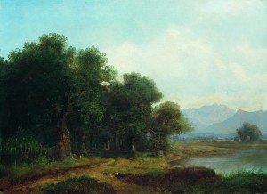 Lev Kamenev - Lake in a Mountain Valley