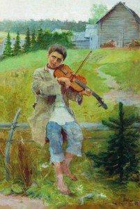 Nikolai Petrovich Bogdanov-Belsky - Boy with a Violin
