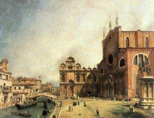 Canaletto - SS. Giovanni e Paulo and the Scuola de San Marco