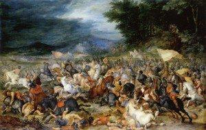 Jan Brueghel the Elder - The Battle of Hebrews against Amalakites