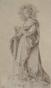 Hans Baldung - Saint Catherine Leaning on a Sword