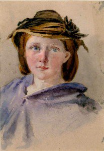 Thomas Stuart Smith - Portrait of a Girl with a Hat
