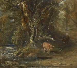 Samuel Bough - Cattle by a Stream