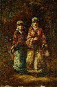 Narcisse Dìaz de la Peña - Bohemiennes mendicantes