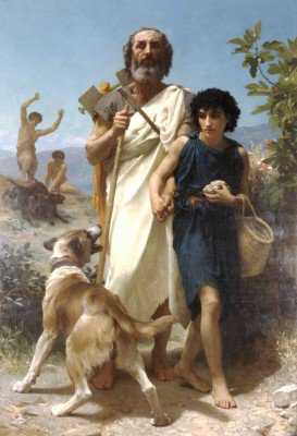 Bouguereau, William-Adolphe - Homer and His Guide