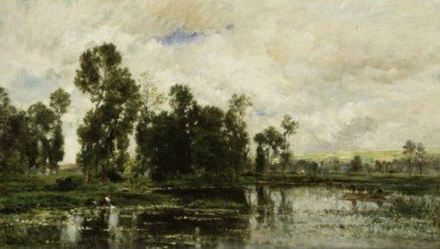 Daubigny, Charles François - The Edge of the Pond
