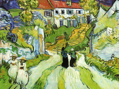 Gogh, Vincent van - Village Street and Steps in Auvers with Figures