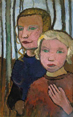 Modersohn-Becker, Paula - Two Girls in Front of Birch Trees