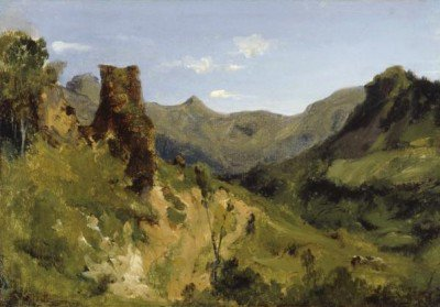 Rousseau, Théodore - Valley in the Auvergne Mountains