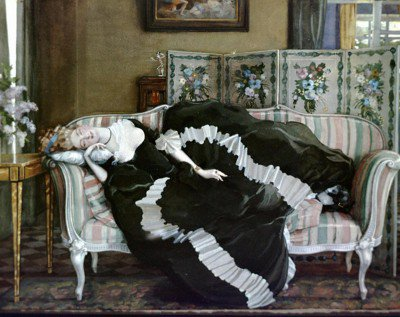 Somov, Constantin - A Sleeping Woman
