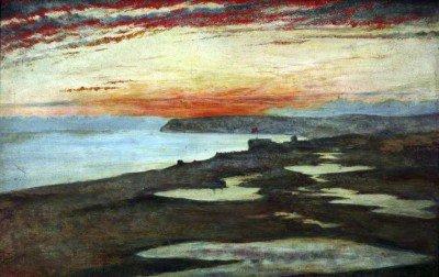 Wallis, Henry - A Coast Study, Sunset, Seaford