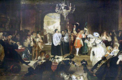 Ward, Edward Matthew - Antechamber at Whitehall during the Dying Moments of Charles II