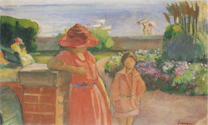 Henri Lebasque - A walk by the sea