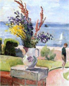 Henri Lebasque - Terrace by the sea