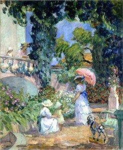 Henri Lebasque - Terrace in the Garden