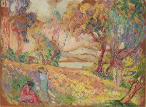 Henri Lebasque - Two girls at St Tropez