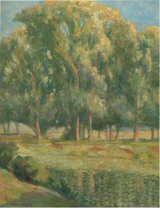 Henri Martin - Trees by the River