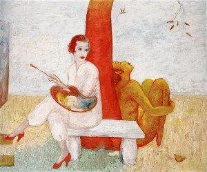 Florine Stettheimer - Self-Portrait with Pallette