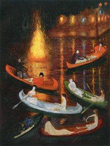 Florine Stettheimer - Fete on the Lake