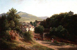 Samuel Henry Baker - A View over Old Brecon