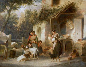 William Shayer Snr - Farm Scene