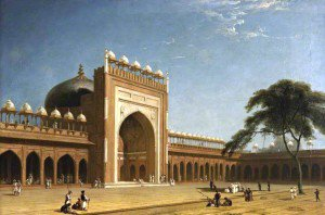 William Daniell - Quadrangle of the Jami Masjid, Fatehpur Sikri