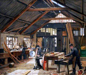 Francis Kenneth Elwell - The Wheelwright's Shop