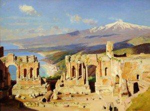 William Logsdail - The Greek Theatre, Taormina, Sicily